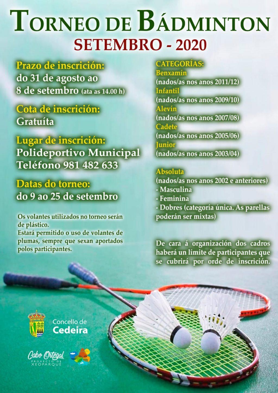 torneo de badminton vila de cedeira