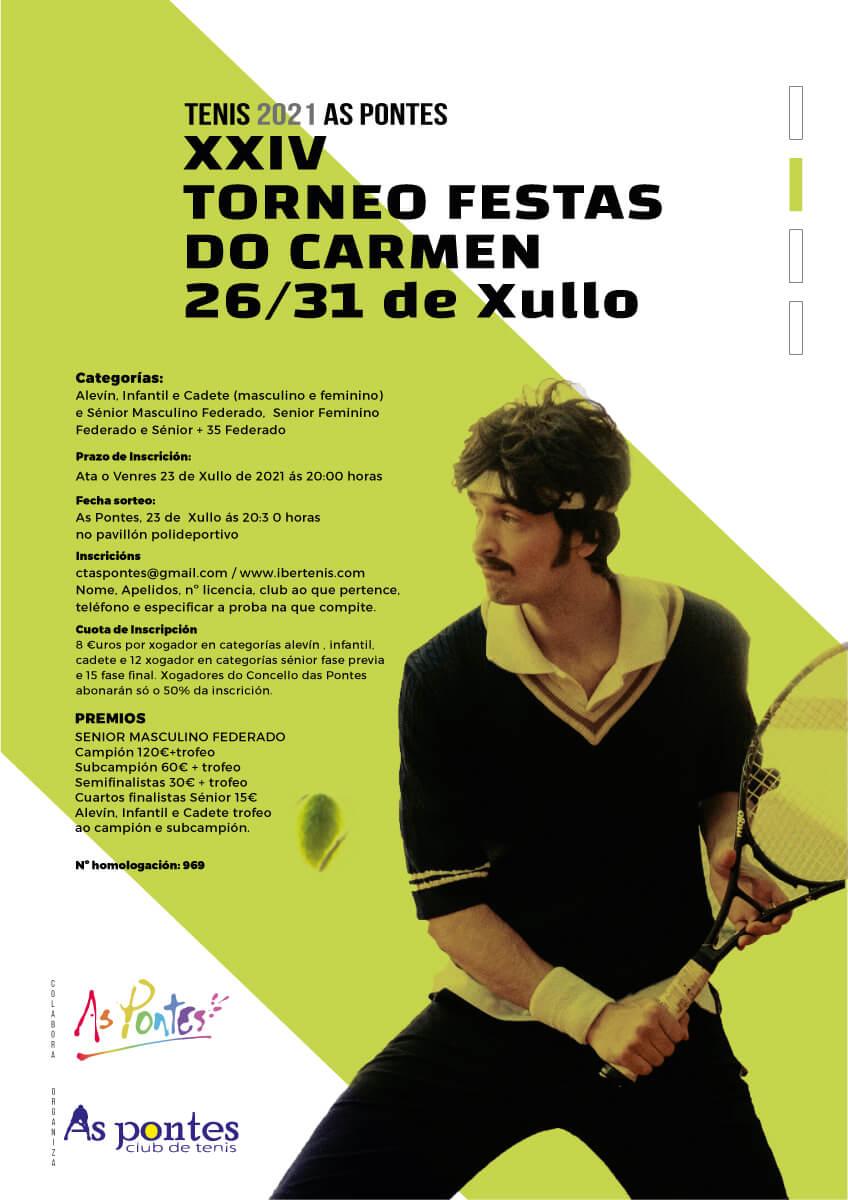 xxiv torneo de tenis festas do carmen de as pontes 2021