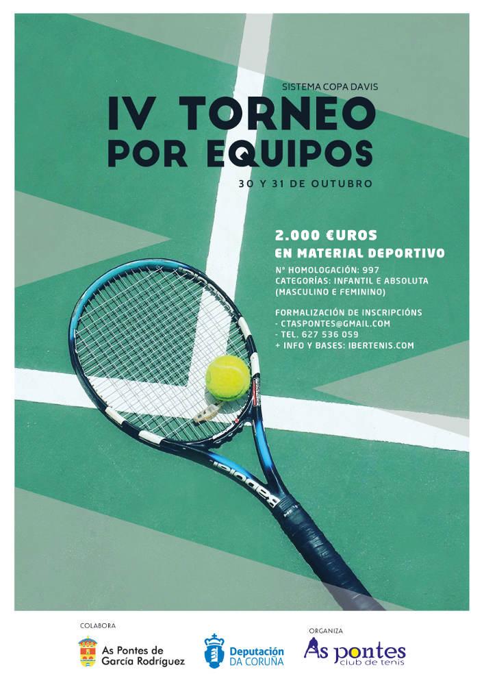 cartafol do torneo de tenis por equipos de As Pontes